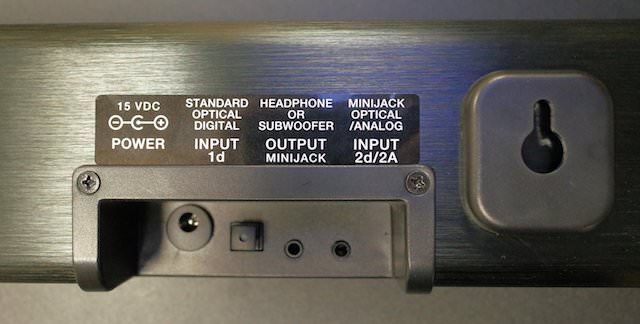 ZVOX AccuVoice AV200 Rear Input Panel