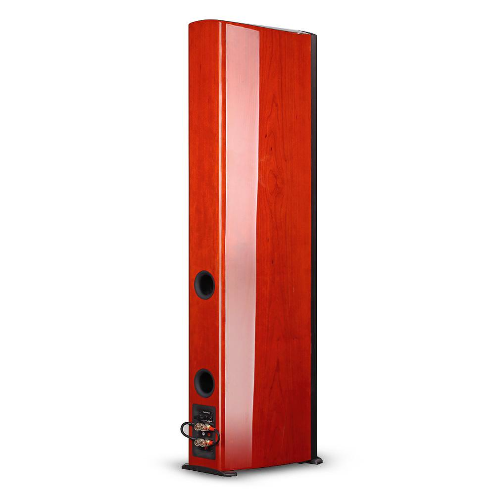 Aperion Audio Verus II Grand Tower Speakers rear angle (cherry)