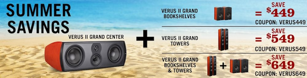 With Matching Verus Grand II Bookshelf Center Channel And Bravus Subwoofer Note Aperion Is Running A Sale Until July 13 2018 When You Buy Direct