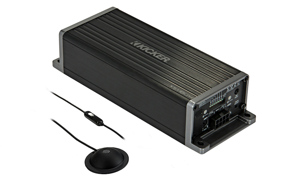 Kicker KEY180.4 Smart Car Amplifier with Microphone