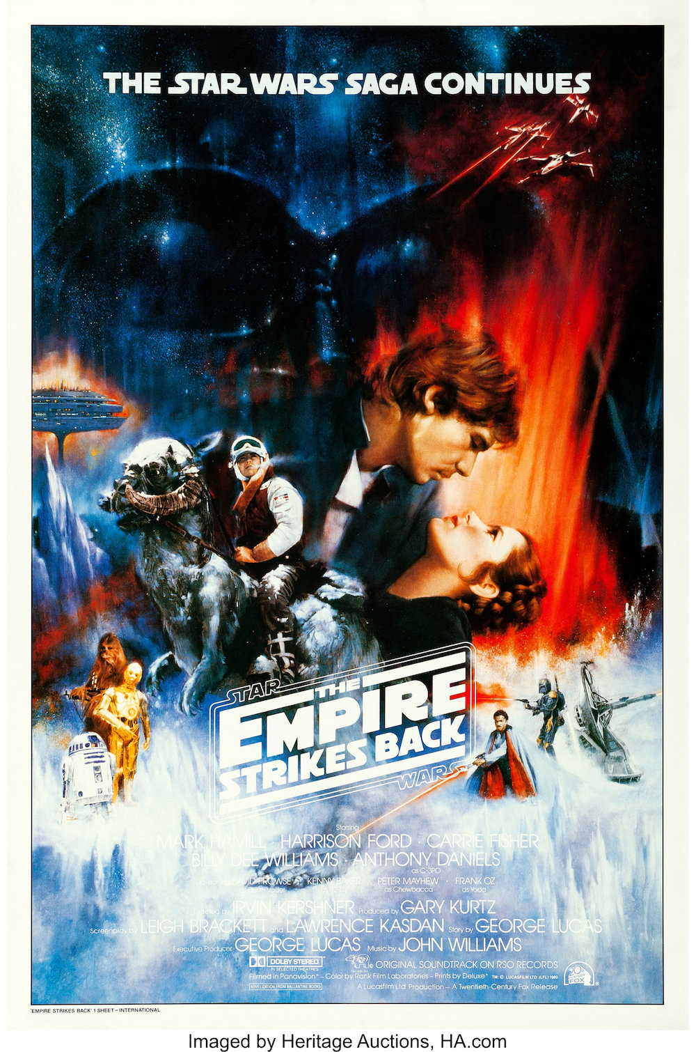 Star War Empire Strikes Back Movie Poster (Final Studio Approved)