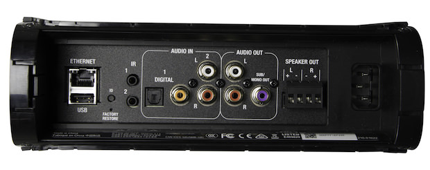 Control4 Triad One Streaming Amplifier (Back View, Black)