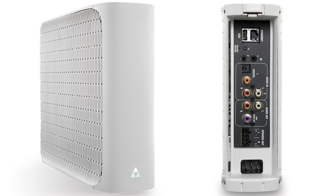 Control4 Triad One Streaming Amplifier (Front and Back in White)
