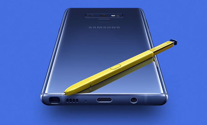 Samsung Galaxy Note9 Smartphone with S-pen (Ocean Blue with Yellow S Pen)
