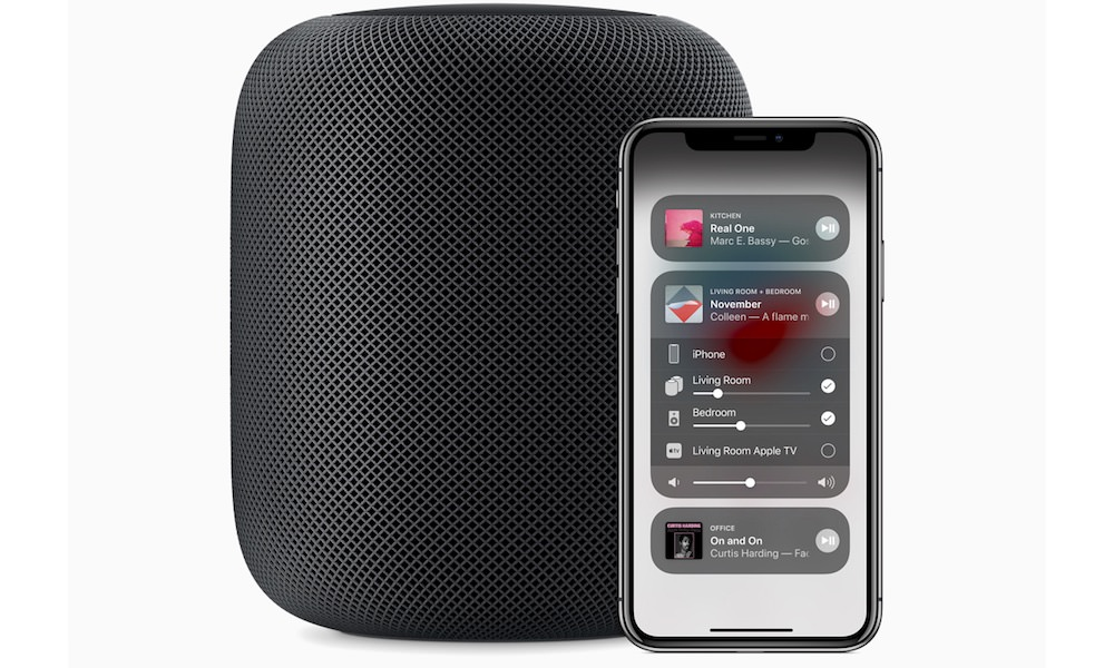 Apple HomePod with iPhone X