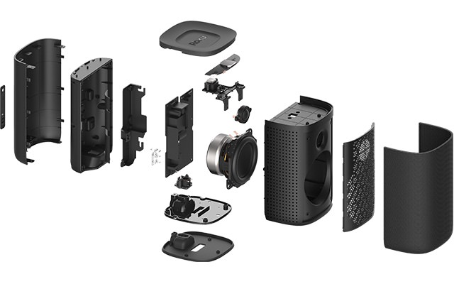 Roku TV Wireless Speakers Exploded View