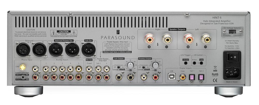 Parasound Hint 6 Integrated Amplifier Rear