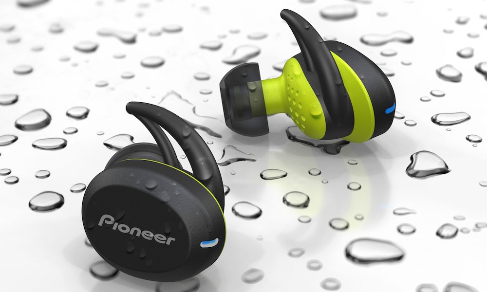 Pioneer SE-E8TW In-Ear Wireless Sports Headphones in Yellow