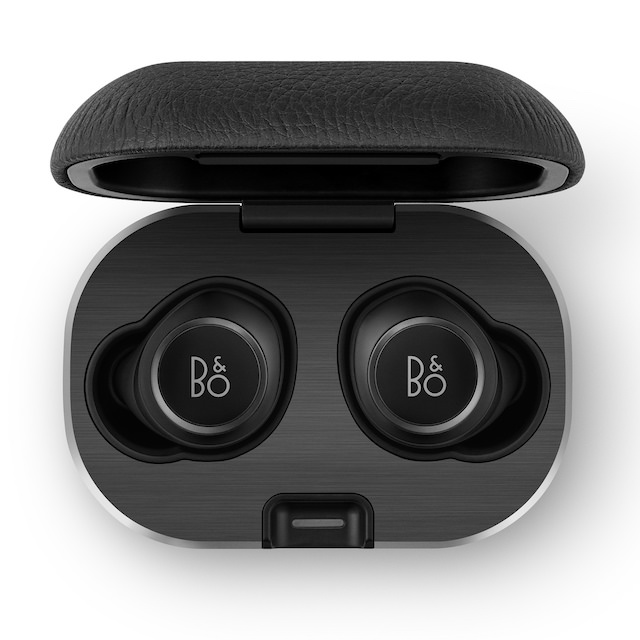 Bang & Olufsen Beoplay E8 2.0 inside wireless charging case in black