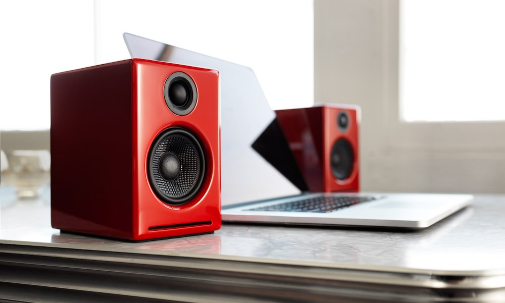 Audioengine A2+ Wireless Desktop Powered Speakers in Red