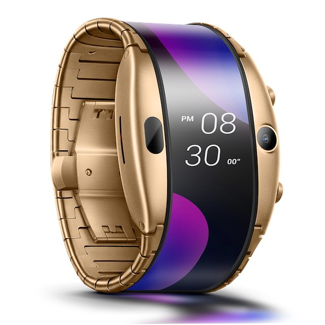 Nubia Alpha Wearable Smartphone Smartwatch in Gold