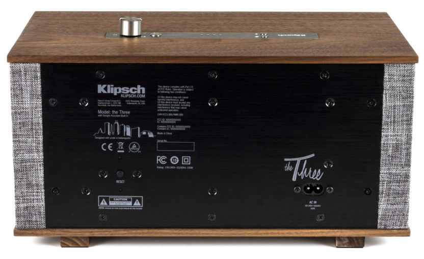 Klipsch Heritage The Three with Google Assistant Speaker Rear View