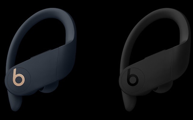 Beats PowerBeats Pro in navy and black
