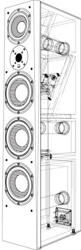 SVS Prime Pinnacle Tower Speaker Illustration