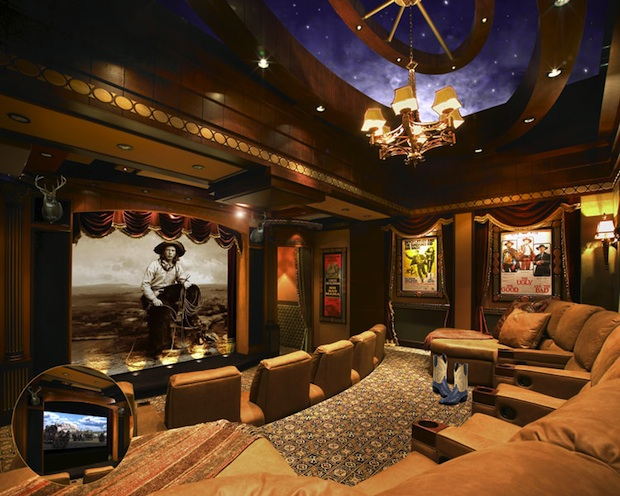 Cowboy Chic Home Theater