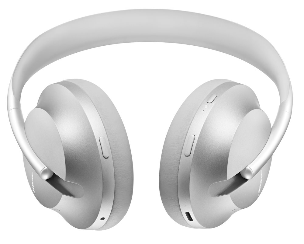 Bose Noise Cancelling Headphones 700 Silver Bottom View