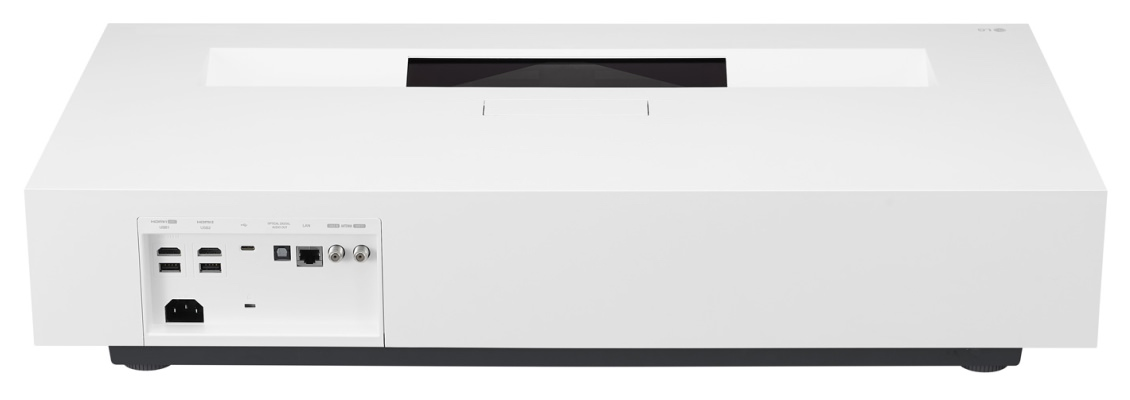 LG HU85LA Projector - Back View