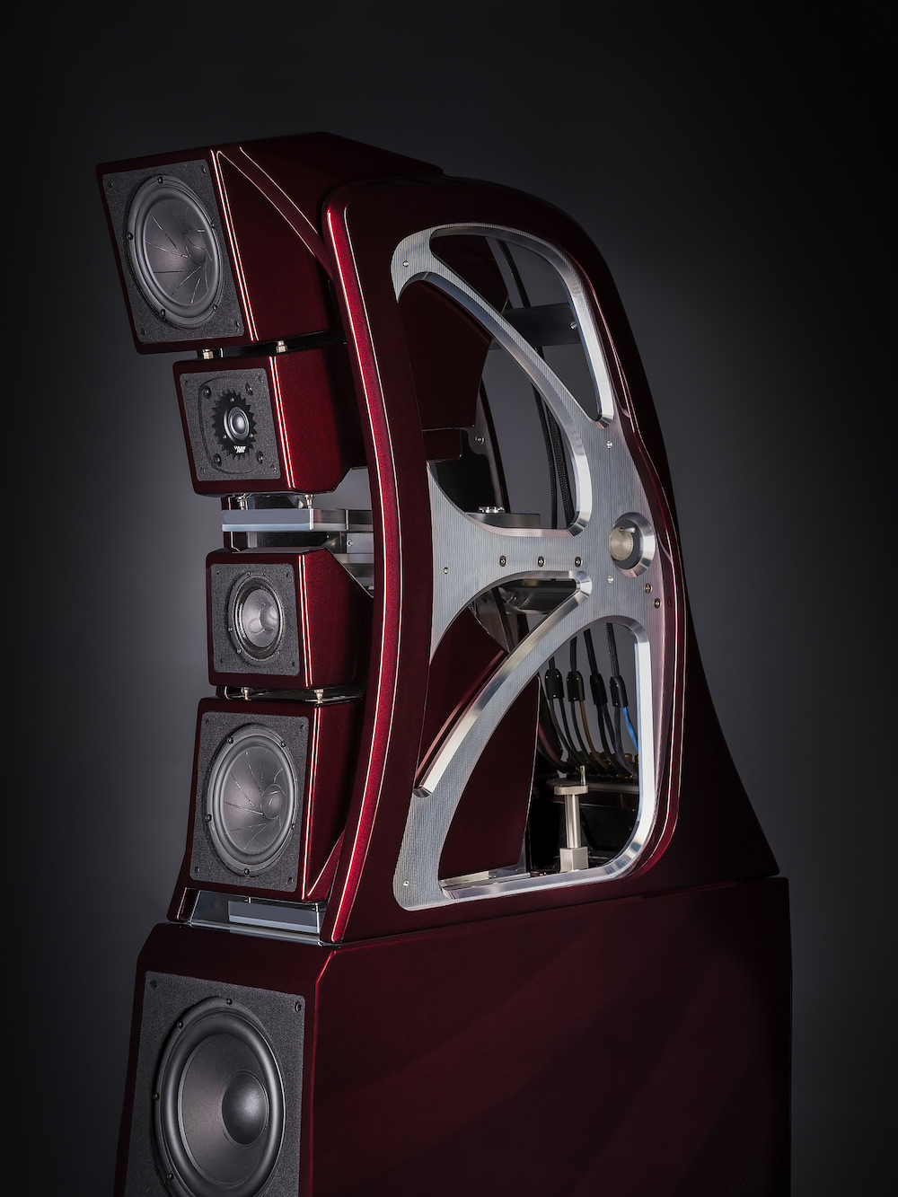 Wilson Audio Chronosonic XVX Loudspeakers in Cranberry Pearl Cove Without Grille