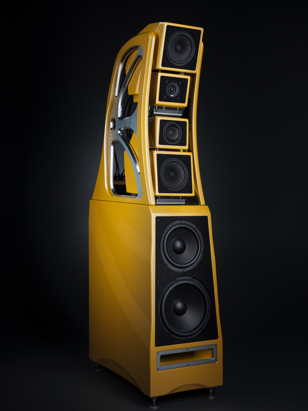 Wilson Audio Chronosonic XVX Loudspeakers in Saffron Pearl Cove (Yellow) Without Grille