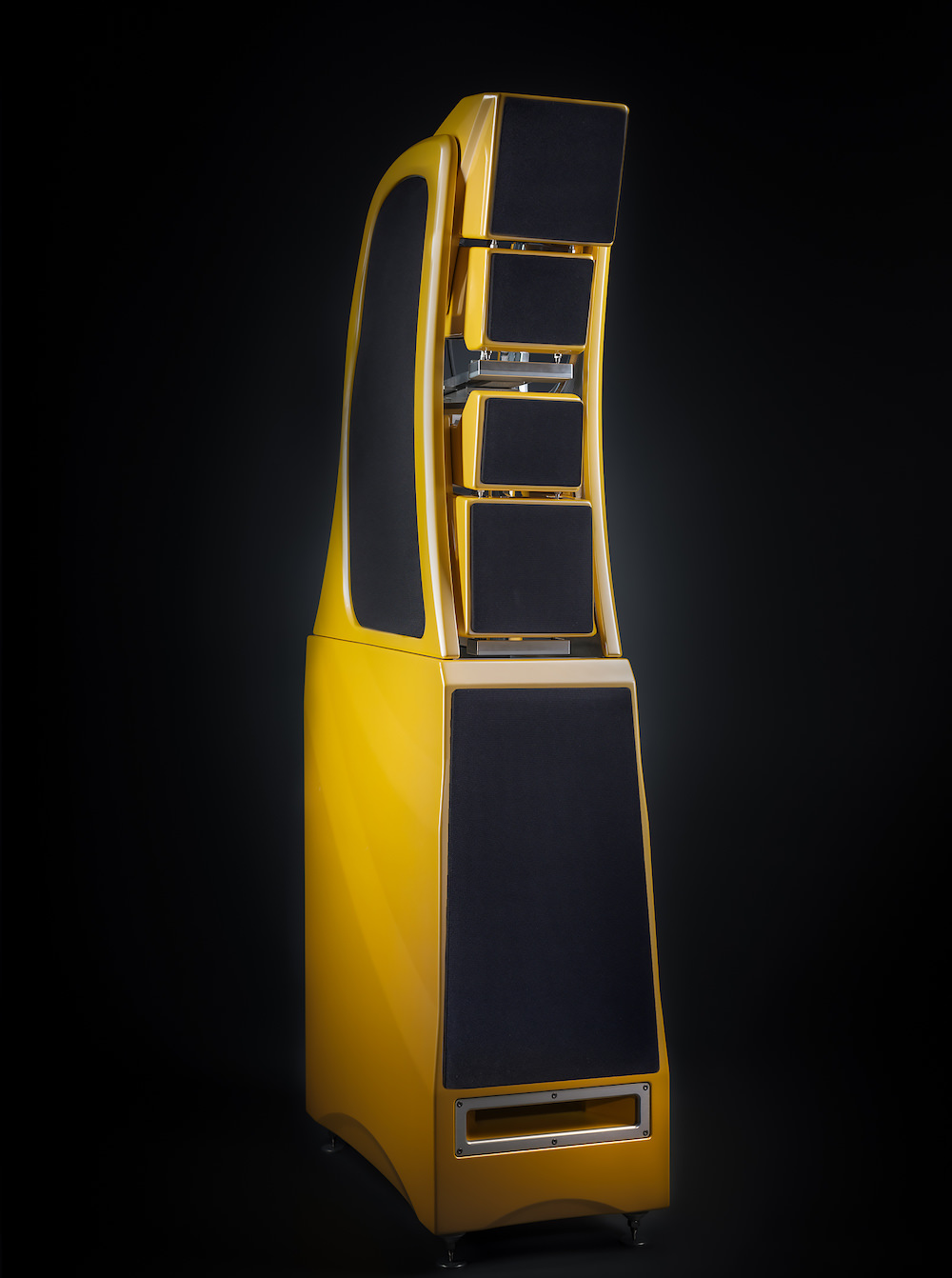 Wilson Audio Chronosonic XVX Loudspeakers in Saffron Pearl Cove (Yellow) With Grille