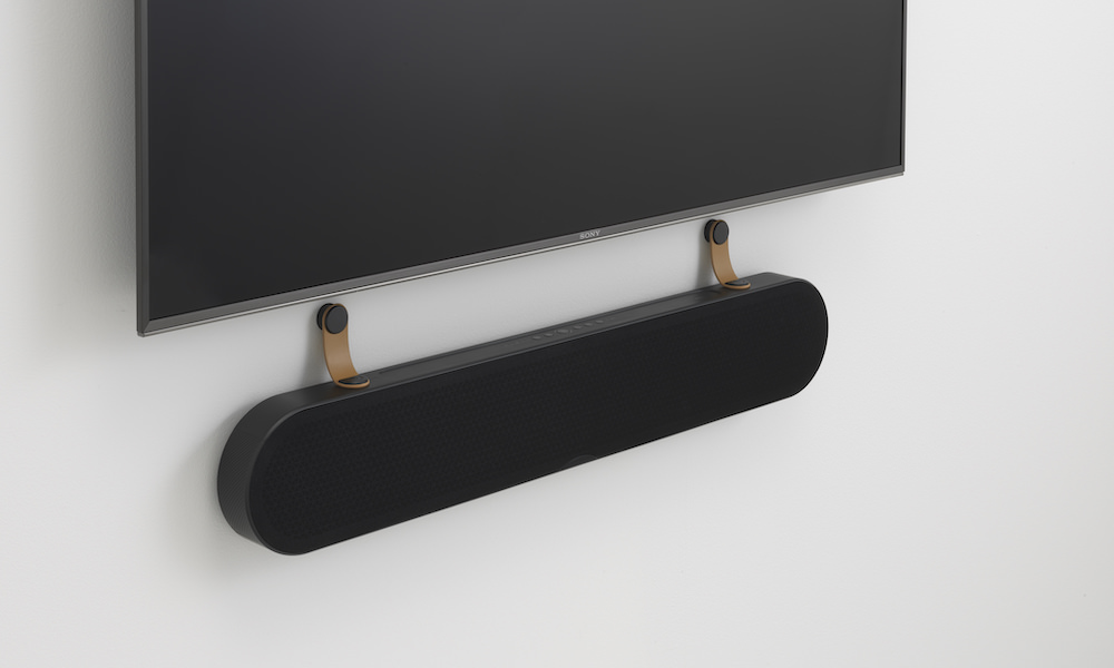 Dali Katch One Soundbar in Iron Black mounted under TV