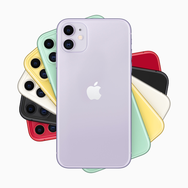 Apple iPhone 11 dual camera smartphone colors