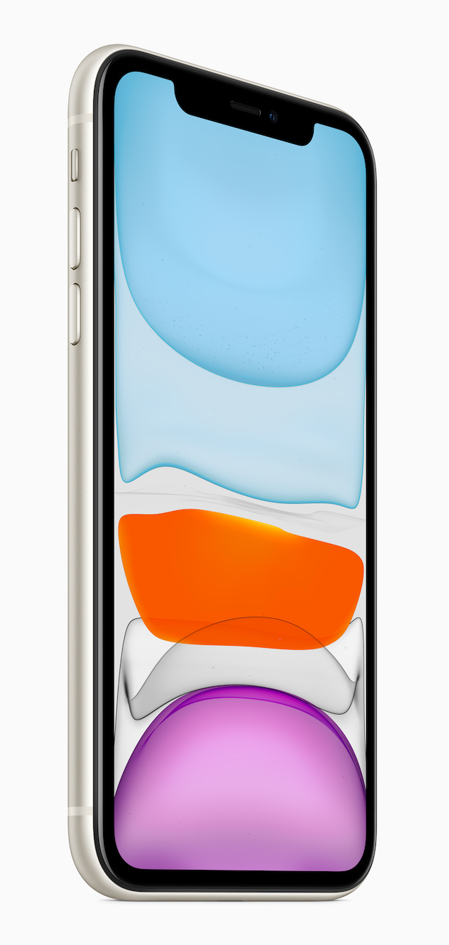 Apple iPhone 11 front with wallpaper