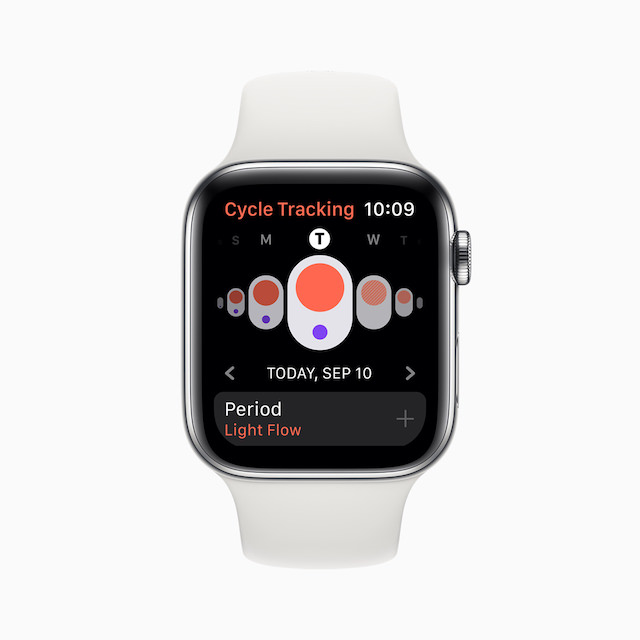 Apple Watch Series 5 Cycle Tracking