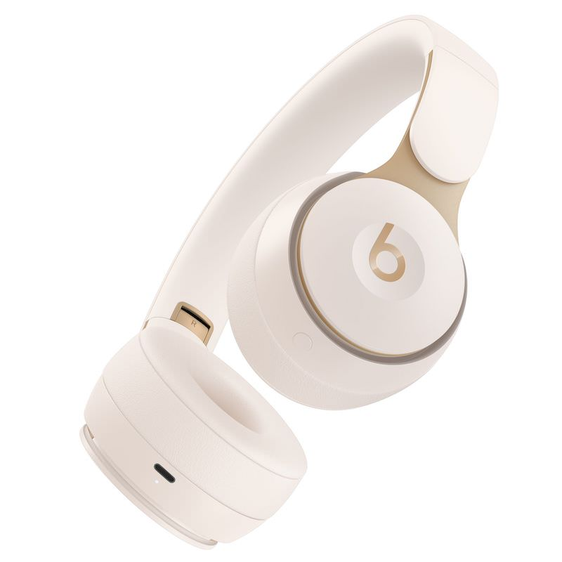 Beats Solo Pro in Ivory Bottom View