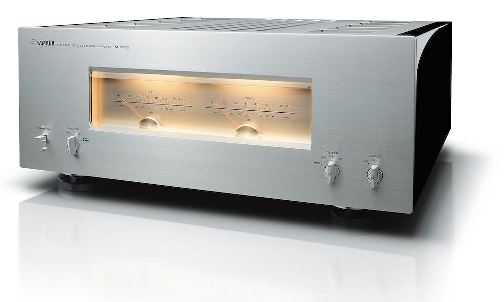 Yamaha M-5000 Power Amplifier in silver