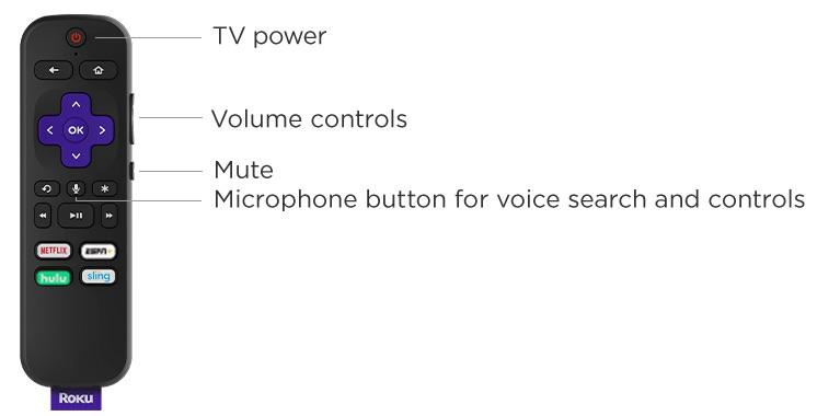 onn. Roku Smart Soundbar Remote Control