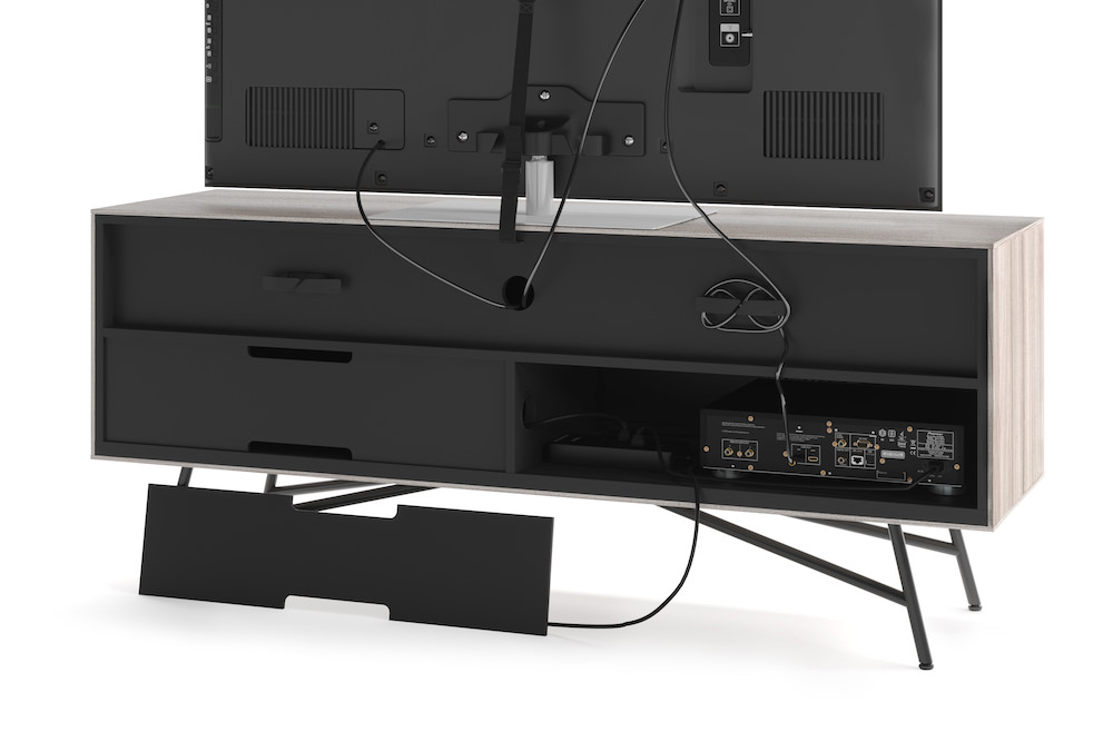 BDI Sector 7527 Media Console Back with TV (Sepia)