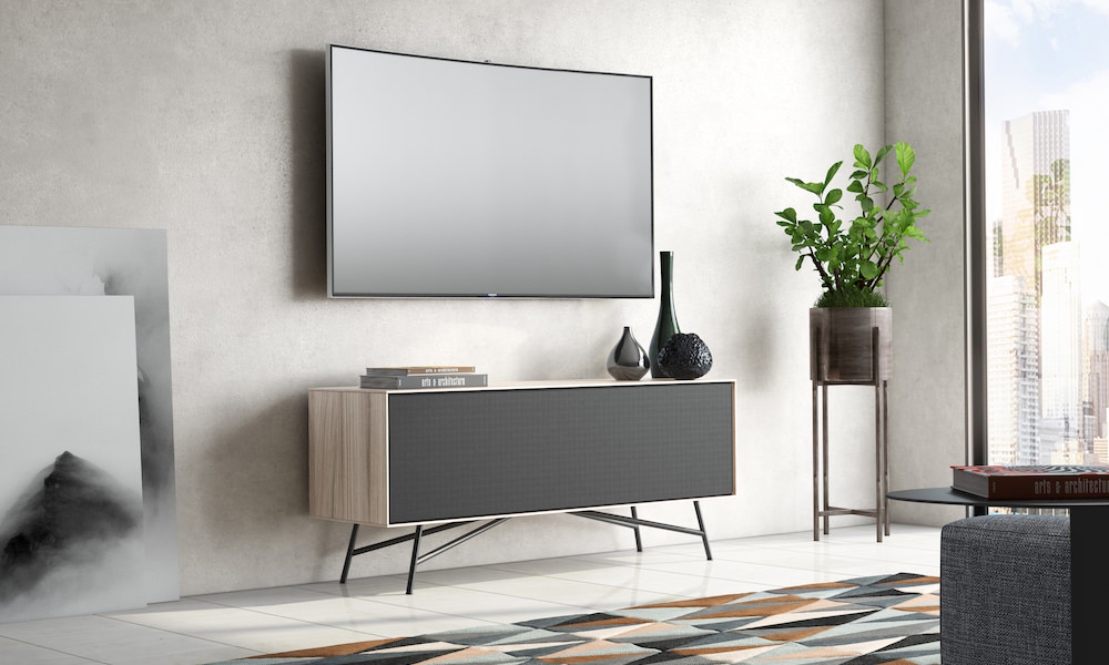 BDI Sector 7527 Modern Media Console with TV (Strata)