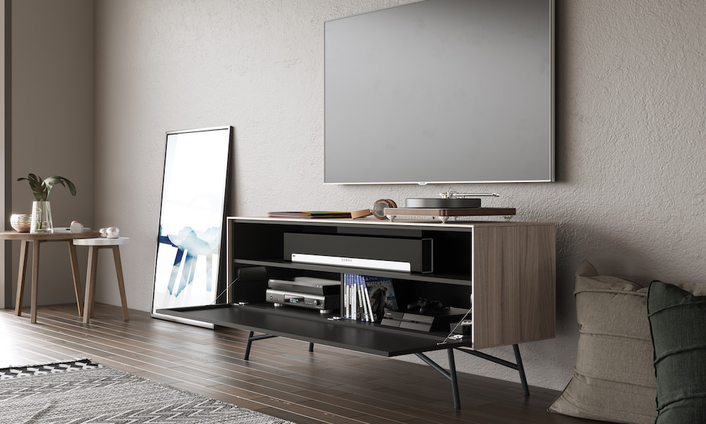 BDI Sector 7527 Media Console Open Front with TV (Strata)