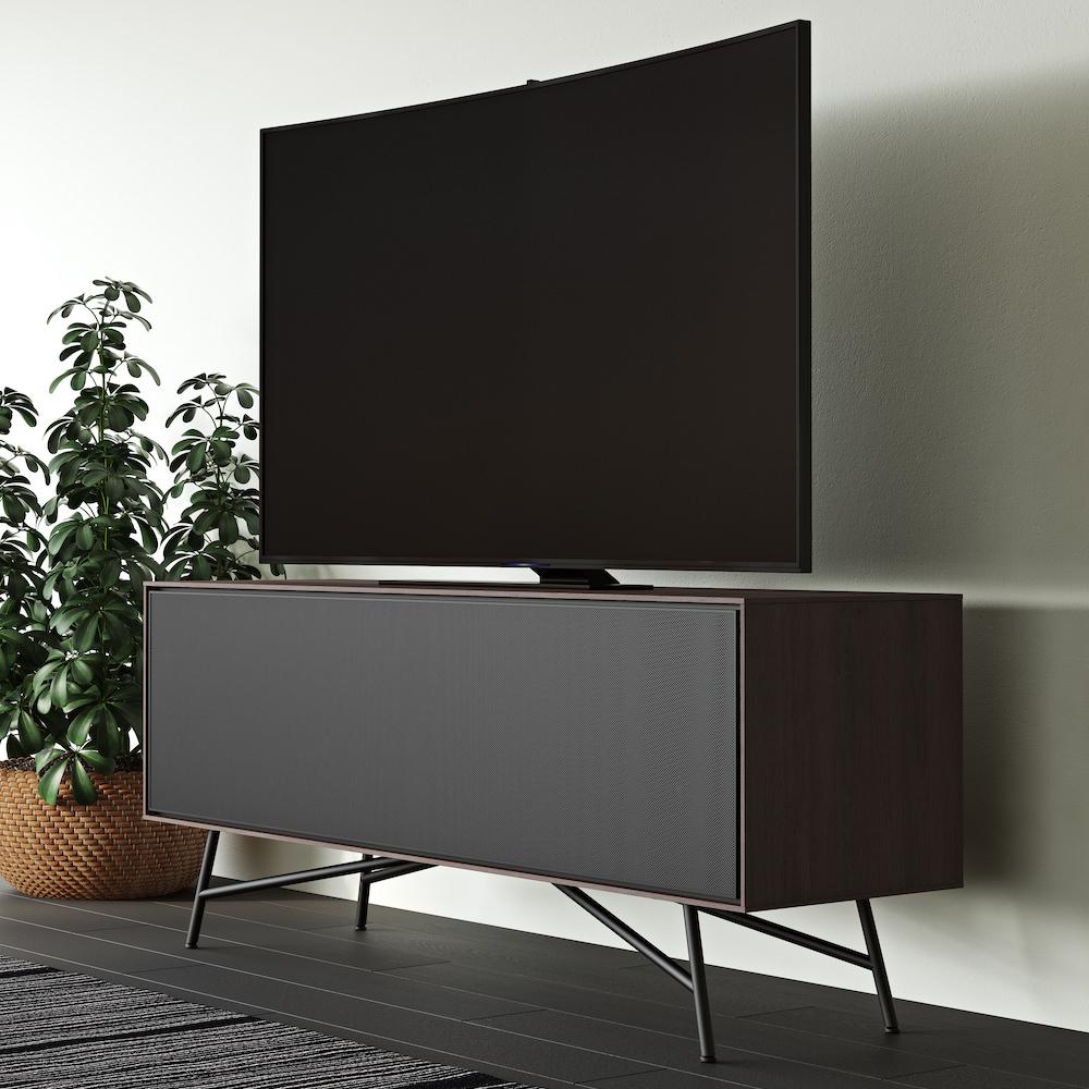 BDI Sector 7527 Media Console Angle with TV (Sepia)