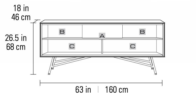 BDI Sector 7527 Cabinet Dimensions