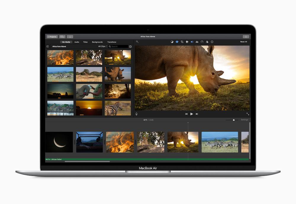 Apple MacBook Air Video Editing (2020)