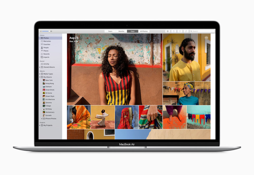 Apple MacBook Air Storage Photo Screen (2020)