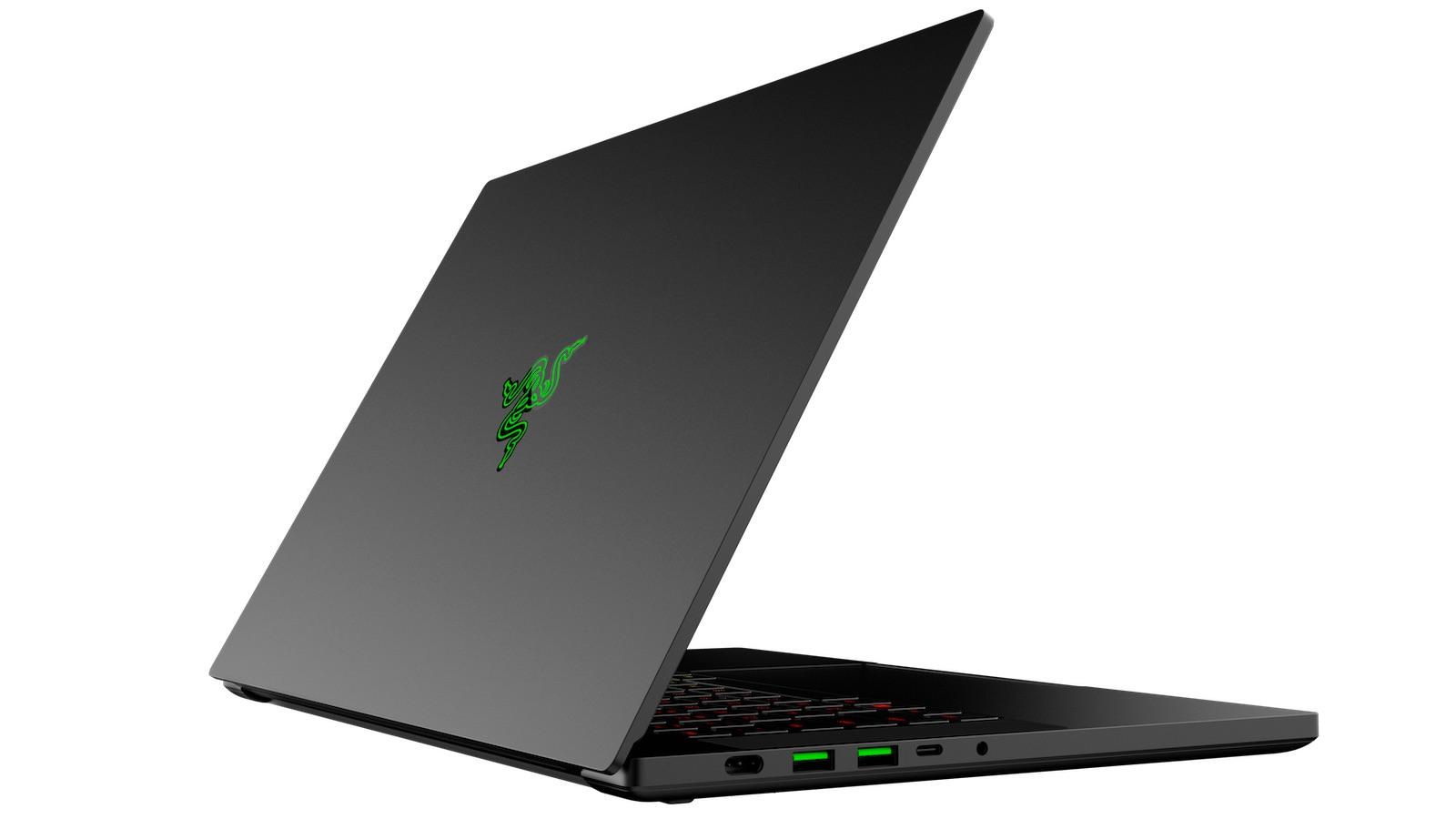 Razer Blade 15 Gaming Laptop (2020 model) Back Angle View