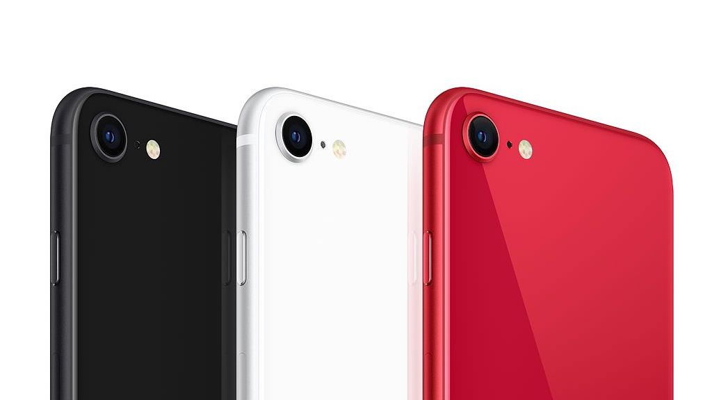Apple iPhone SE Smartphone (2nd Generation, 2020 model) Rear Camera in Black, White and Red Colors