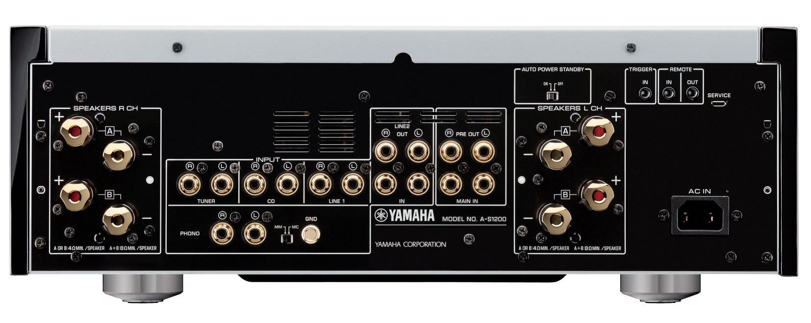 Yamaha A-S1200 Integrated Amplifier Rear View