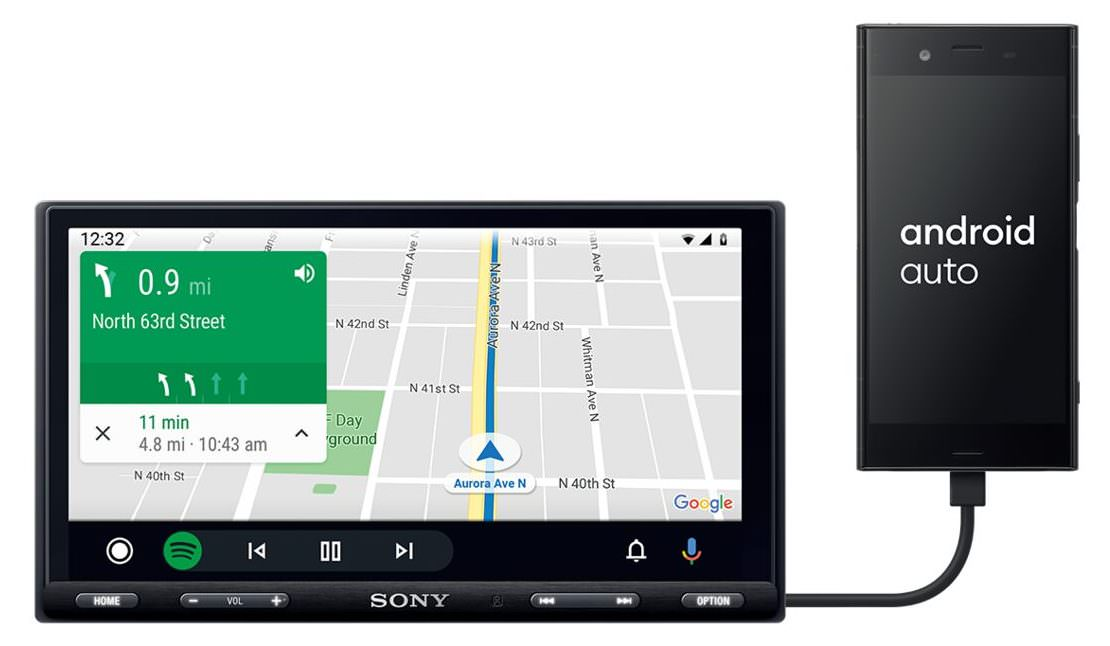 Sony XAV-AX5500 with Android Auto