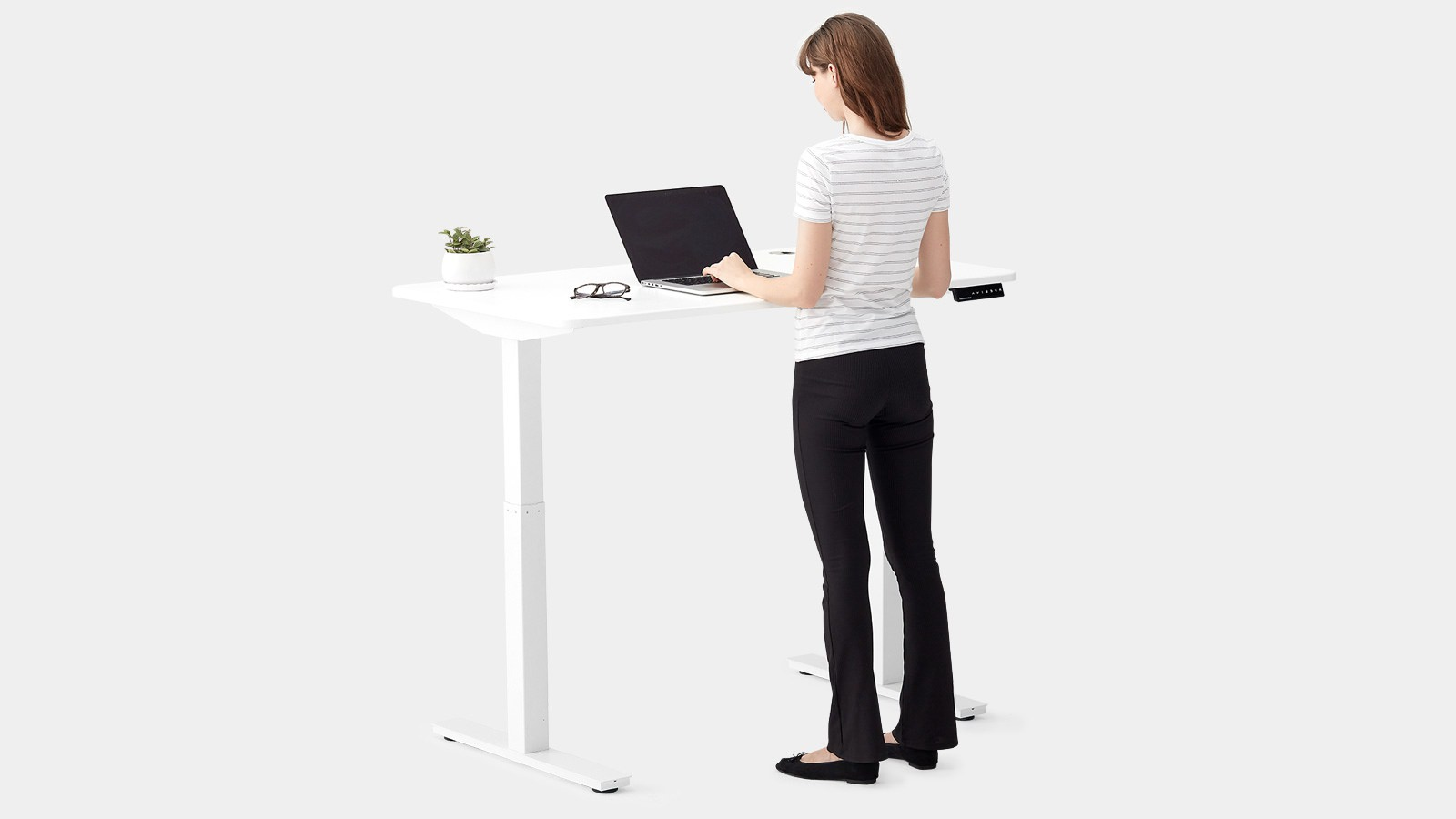 Autonomous SmartDesk2 - Home Office Adjustable Standing Desk (white)