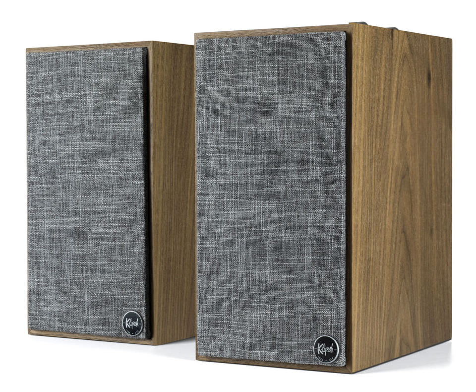Klipsch The Fives Powered Speakers (Grilles on in Walnut)
