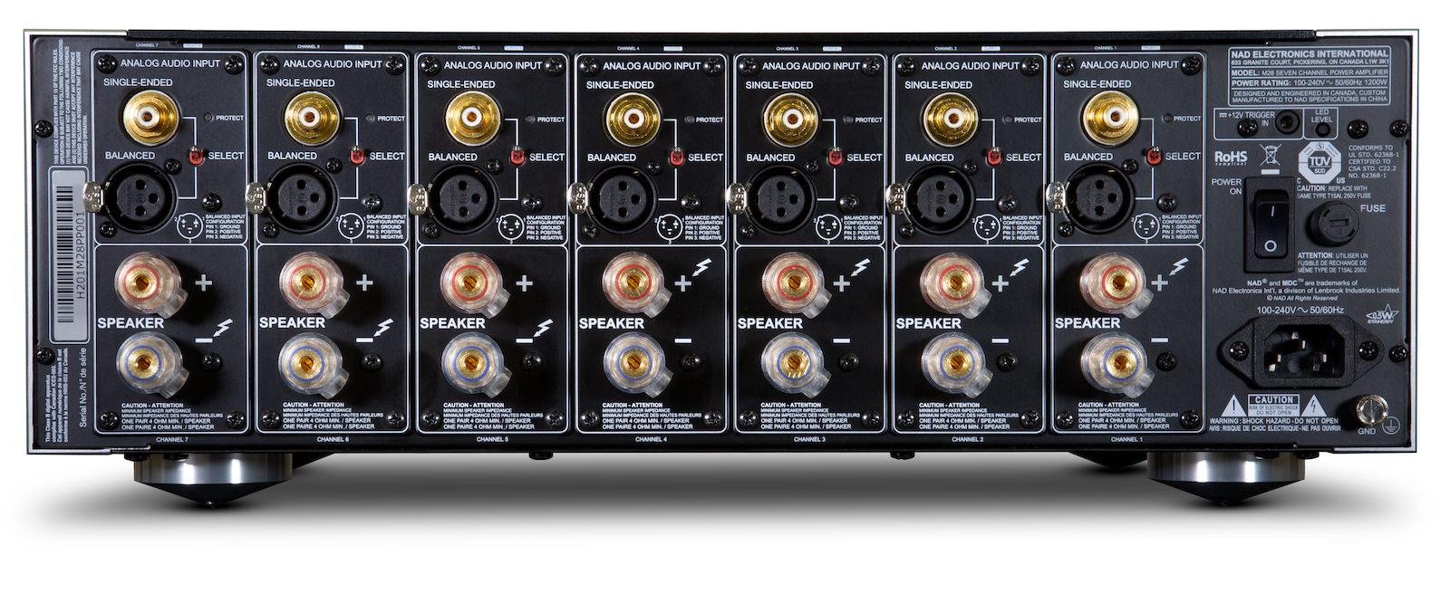 NAD Masters Series M28 Seven Channel Amplifier Rear