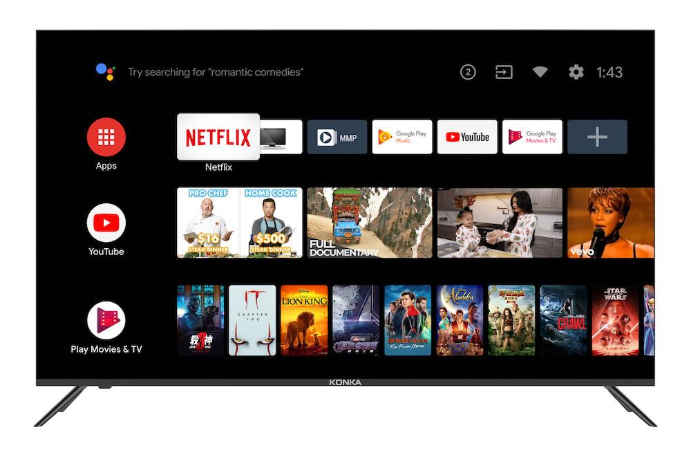 Konka U5 Series 4K TV Android screen