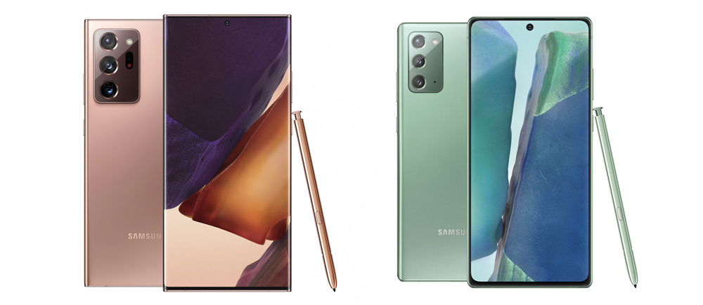 Samsung Galaxy Note20 Ultra and Note20 Smartphones