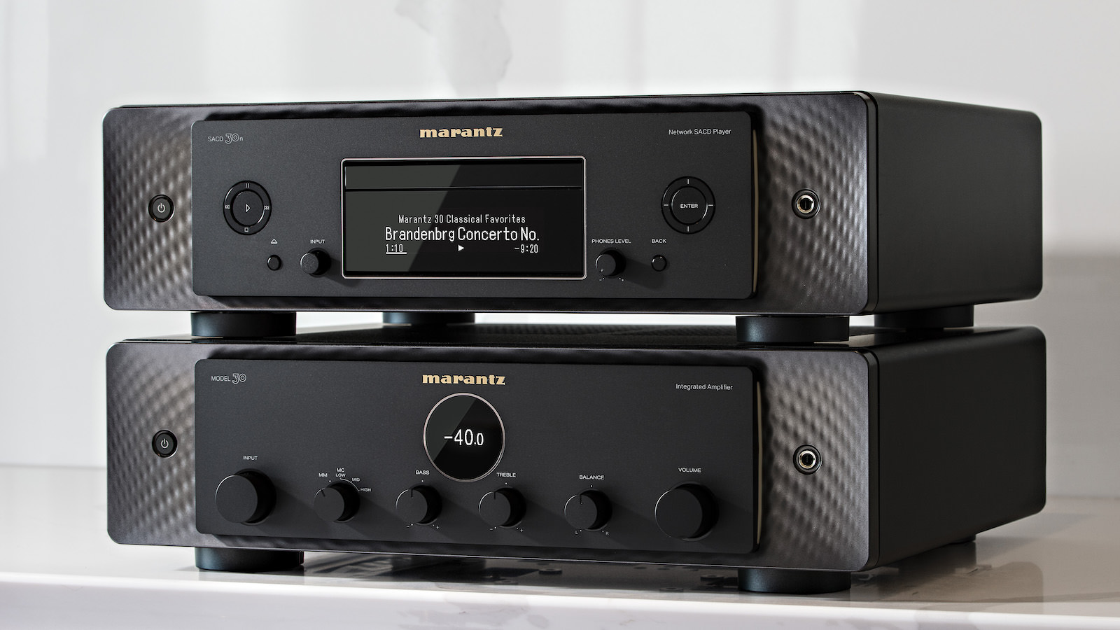 Marantz SACD 30n and MODEL 30 in Black