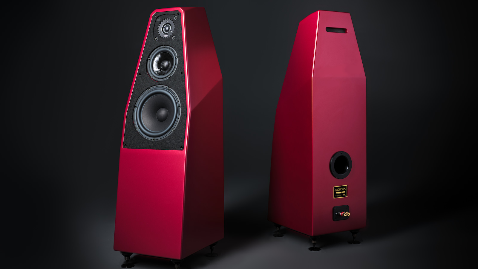 Wilson Audio SabrinaX Loudspeakers in Crimson Finish