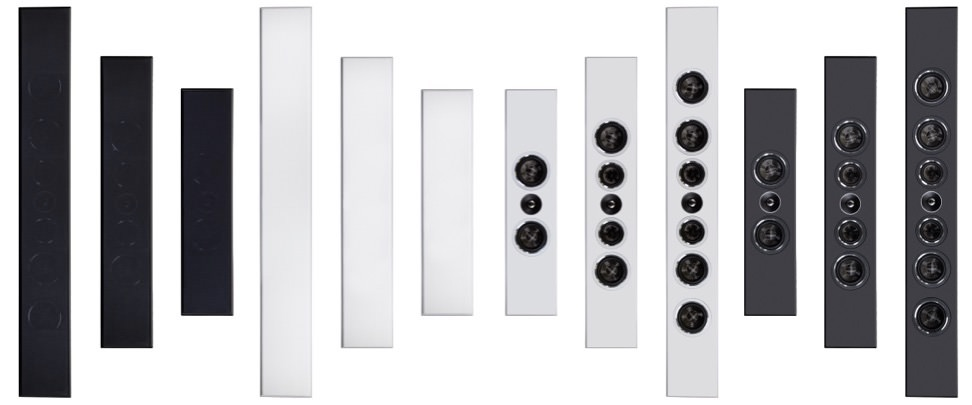 PSB Speakers PWM1, PWM2 and PWM3 On-Wall Loudspeakers in Satin Black and White